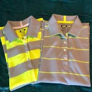 Oakley Golf Shirts, Bundle of 2